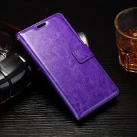Глянцевый чехол портмоне подставка на силиконовой основе на магнитной защелке для Sony Xperia E5  Фиолетовый