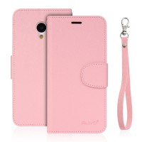 Чехол портмоне подставка на силиконовой основе на магнитной защелке для Meizu M3s Mini Розовый