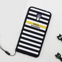 Силиконовый матовый непрозрачный дизайнерский фигурный чехол для Meizu M3s Mini  Черный