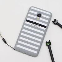Силиконовый матовый непрозрачный дизайнерский фигурный чехол для Meizu M3s Mini  Серый