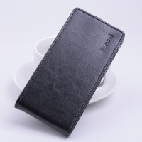 Глянцевый чехол вертикальная книжка на силиконовой основе на магнитной защелке для Meizu M3s Mini  Черный