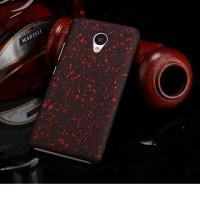 Пластиковый непрозрачный матовый чехол с голографическим принтом Звезды для Meizu M3s Mini  Красный