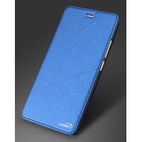 Чехол горизонтальная книжка подставка текстура Линии на силиконовой основе для Meizu M3s Mini Синий