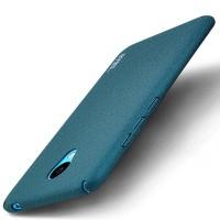 Пластиковый непрозрачный матовый чехол с улучшенной защитой элементов корпуса для Meizu M3s Mini Синий