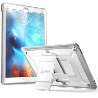 Эксклюзивный многомодульный ультрапротекторный пылевлагозащищенный ударостойкий нескользящий чехол алюминиево-цинковый сплав/силиконовый полимер для Ipad Pro Белый