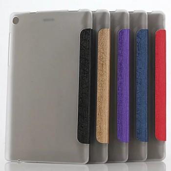 Сегментарный чехол книжка подставка текстура Линии на полупрозрачной поликарбонатной основе для Lenovo Tab 3 7 Essential