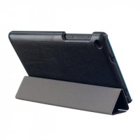 Сегментарный чехол книжка подставка на непрозрачной поликарбонатной основе для Lenovo Tab 3 7  Черный