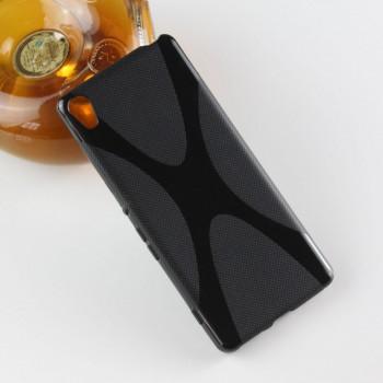 Силиконовый матовый полупрозрачный чехол с дизайнерской текстурой X для Sony Xperia XA