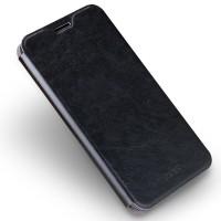 Винтажный чехол горизонтальная книжка подставка на силиконовой основе для Meizu MX6  Черный