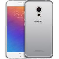 Силиконовый матовый транспарентный чехол для Meizu MX6