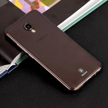 Силиконовый матовый полупрозрачный чехол с улучшенной защитой элементов корпуса (заглушки) для Meizu MX6