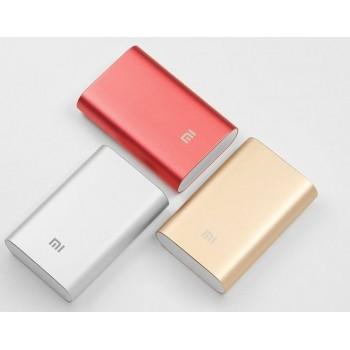 Оригинальное портативное зарядное устройство Xiaomi в матовом металлическом корпусе 10000 мАч