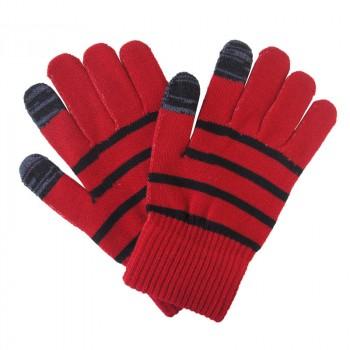 Сенсорные трехпальцевые перчатки шерсть/акрил дизайн Полосы