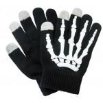 Сенсорные трехпальцевые перчатки шерсть/акрил дизайн Кости