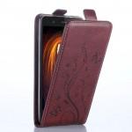 Винтажный чехол вертикальная книжка на силиконовой основе с отсеком для карт на магнитной защелке для ZTE Blade V7 Lite