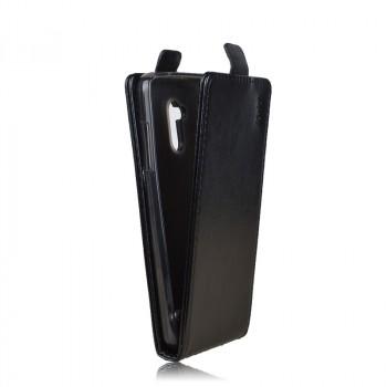 Глянцевый чехол вертикальная книжка на силиконовой основе на магнитной защелке для ZTE Blade V7 Lite