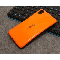 Силиконовый глянцевый непрозрачный чехол с нескользящими гранями для Sony Xperia Z5 Premium