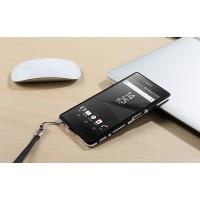 Металлический округлый бампер сборного типа на винтах для Sony Xperia Z5 Premium  Черный