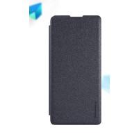 Чехол горизонтальная книжка на пластиковой нескользящей премиум основе для Sony Xperia XA  Черный