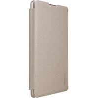 Чехол горизонтальная книжка на пластиковой нескользящей премиум основе для Sony Xperia XA  Бежевый