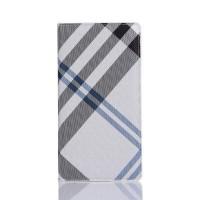 Чехол портмоне подставка текстура Линии на пластиковой основе на магнитной защелке для Sony Xperia XA Белый