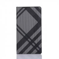 Чехол портмоне подставка текстура Линии на пластиковой основе на магнитной защелке для Sony Xperia XA