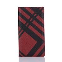 Чехол портмоне подставка текстура Линии на пластиковой основе на магнитной защелке для Sony Xperia XA Красный