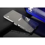 Двухкомпонентный чехол c металлическим бампером с поликарбонатной накладкой и отверстием для логотипа для Sony Xperia XA