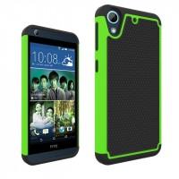 Противоударный двухкомпонентный силиконовый матовый непрозрачный чехол с поликарбонатными вставками экстрим защиты для HTC Desire 626/628 Зеленый