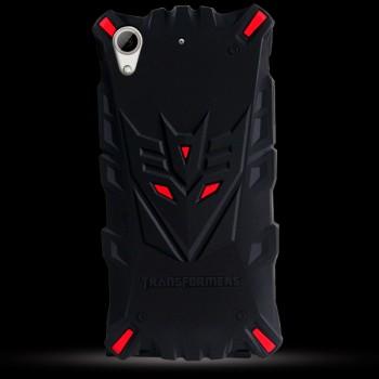 Силиконовый матовый непрозрачный дизайнерский фигурный чехол для HTC Desire 626/628