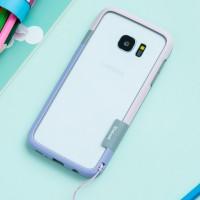 Силиконовый матовый непрозрачный чехол бампер для Samsung Galaxy S7 Edge  Розовый
