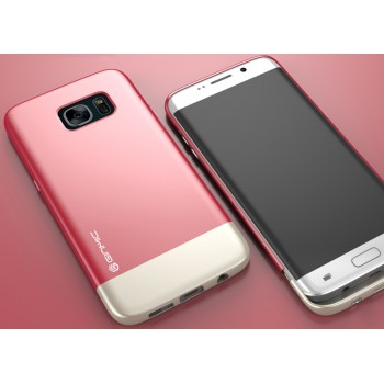 Пластиковый непрозрачный матовый чехол сборного типа для Samsung Galaxy S7 Edge