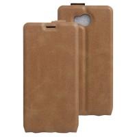Чехол вертикальная книжка на силиконовой основе с отсеком для карт на магнитной защелке для Elephone P9000 Lite