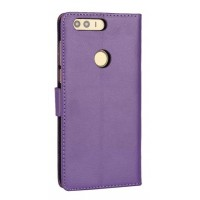 Винтажный чехол портмоне на пластиковой основе на магнитной защелке для Huawei Honor 8  Фиолетовый