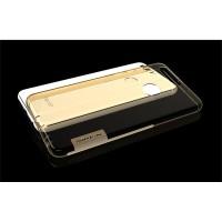 Силиконовый матовый полупрозрачный чехол с улучшенной защитой элементов корпуса (заглушки) для Huawei Honor 8  Бежевый