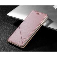 Чехол горизонтальная книжка подставка текстура Линии на пластиковой основе с отсеком для карт для Huawei Honor 8 Розовый