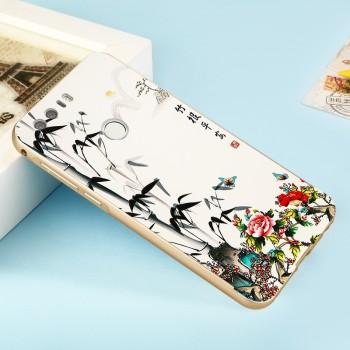 Двухкомпонентный чехол c металлическим бампером с поликарбонатной накладкой и УФ-принтом для Huawei Honor 8