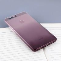 Силиконовый матовый полупрозрачный градиентный чехол для Huawei Honor 8 Черный