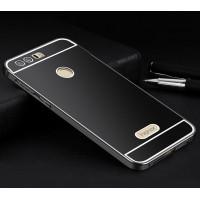 Двухкомпонентный чехол c металлическим бампером с поликарбонатной накладкой для Huawei Honor 8  Черный