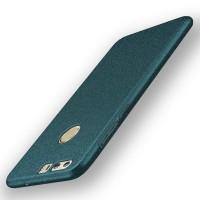 Пластиковый непрозрачный матовый чехол с повышенной шероховатостью для Huawei Honor 8  Зеленый