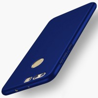 Пластиковый непрозрачный матовый чехол с улучшенной защитой элементов корпуса для Huawei Honor 8  Синий