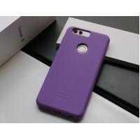 Силиконовый матовый непрозрачный чехол премиум софт-тач для Huawei Honor 8  Фиолетовый