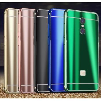 Двухкомпонентный чехол c металлическим бампером с поликарбонатной накладкой и текстурным покрытием Металл для Xiaomi RedMi Pro