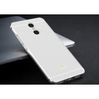 Двухкомпонентный чехол c металлическим бампером с поликарбонатной накладкой для Xiaomi RedMi Pro Белый