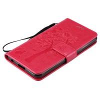 Винтажный чехол портмоне подставка на силиконовой основе на магнитной защелке для LG X Power  Пурпурный