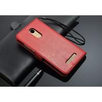 Глянцевый чехол портмоне подставка на пластиковой основе на магнитной защелке для Xiaomi RedMi Pro  Красный