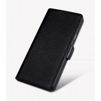 Кожаный чехол горизонтальная книжка подставка (премиум нат. кожа) с крепежной застежкой для Huawei Honor 8
