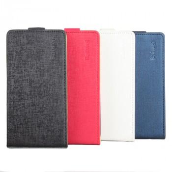Текстурный чехол вертикальная книжка на силиконовой основе на магнитной защелке для Lenovo Moto G4