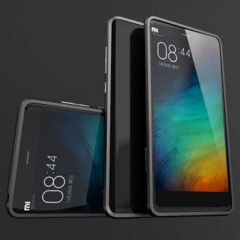 Металлический округлый бампер сборного типа на винтах для Xiaomi Mi Note