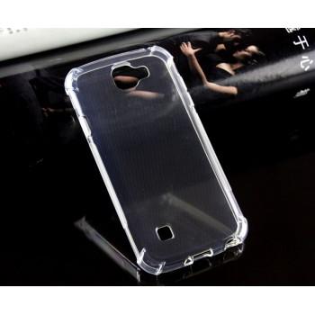Силиконовый матовый транспарентный чехол с усиленными углами для LG K3